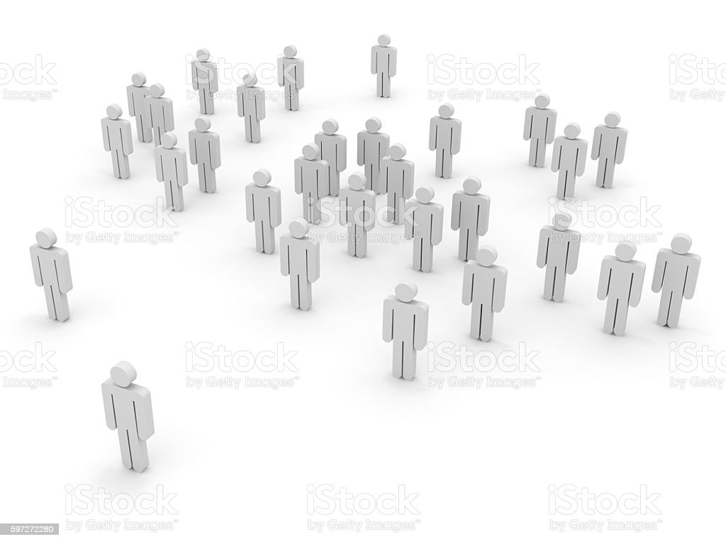 People crowd communication social media concept royalty-free stock photo