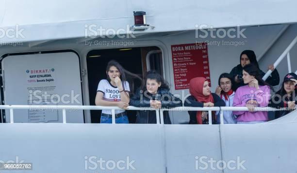 Personer Kryssning Med Färja I Istanbul Turkiet-foton och fler bilder på Berömd plats