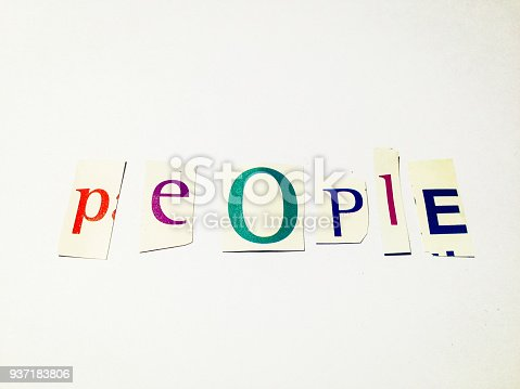 812461124 istock photo People - Cutout Words Collage Of Mixed Magazine Letters with White Background 937183806