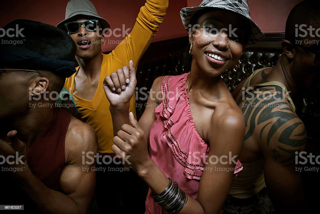 People dancing in club stock photo