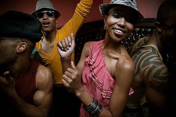People dancing in club stock photo