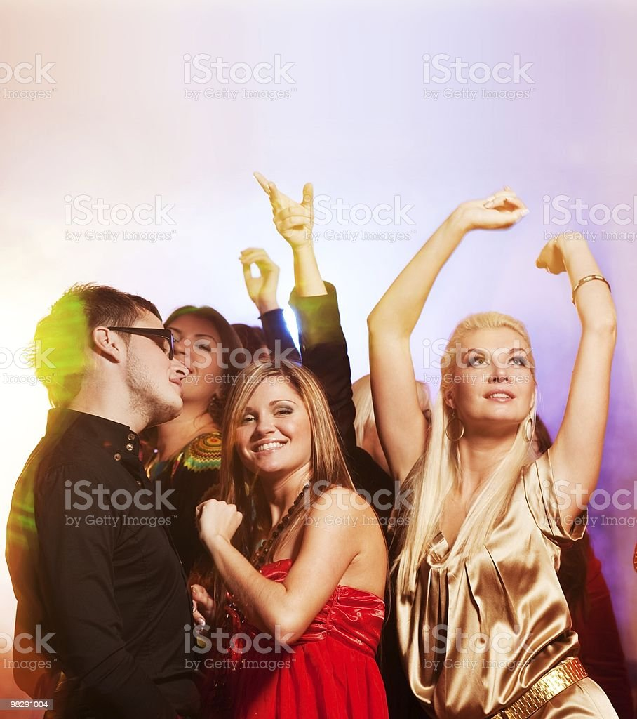 People dancing in the night club royalty-free stock photo