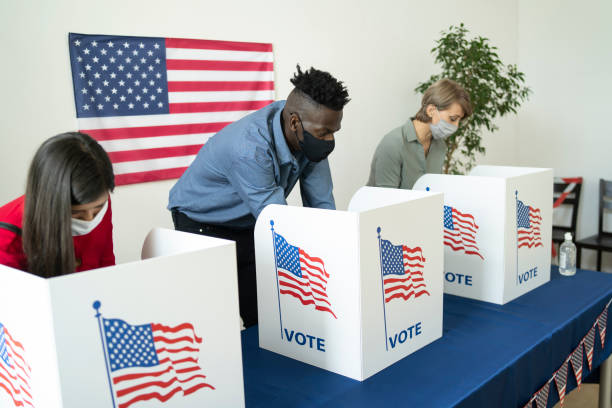 People different ethnicity voting in election