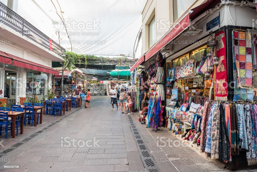 People do shopping in Bodrum,Turkey royalty-free stock photo