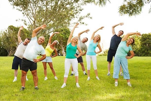 Menschen flexibility Übungen – Foto