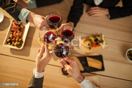istock People Drinking Wine Top View 1153742510