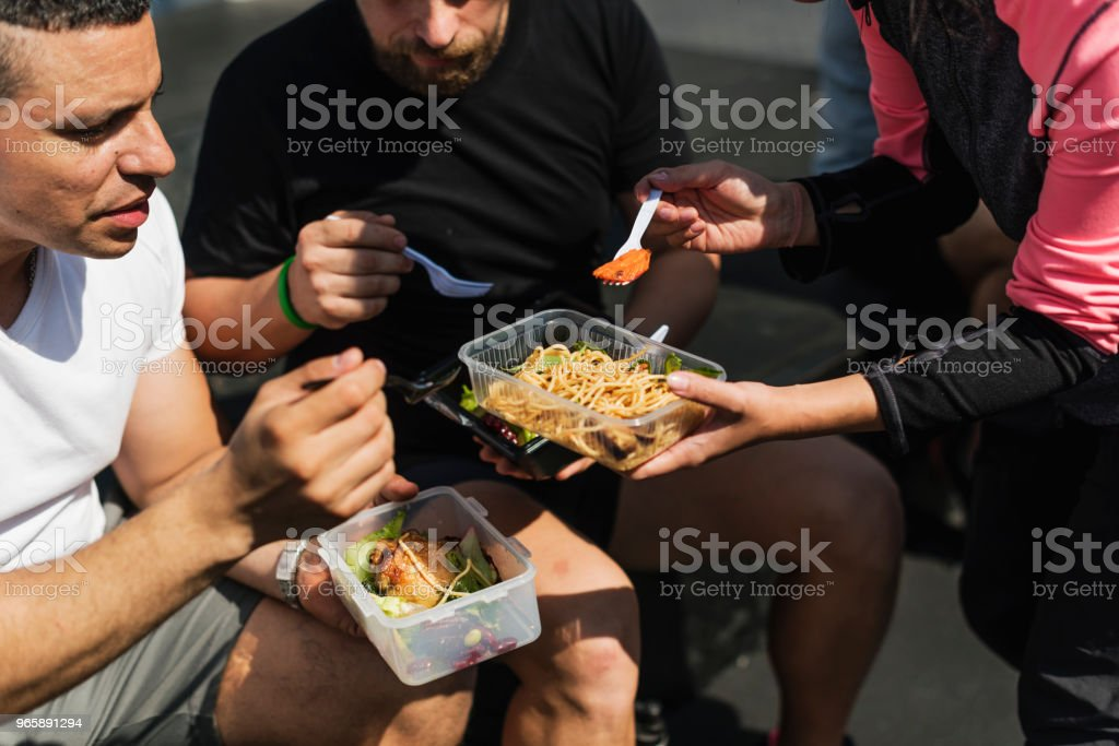 People eating healthy food - Royalty-free Adult Stock Photo
