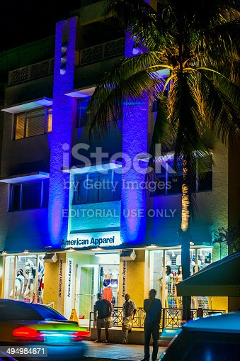istock people enjoy nightlife and go shopping at ocean drive 494984671