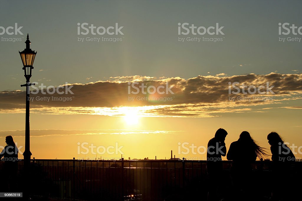 people enjoy sunset 2 royalty-free stock photo