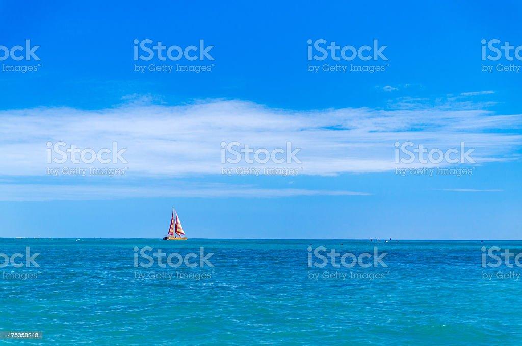 人の青い海やウォータースポーツ ストックフォト