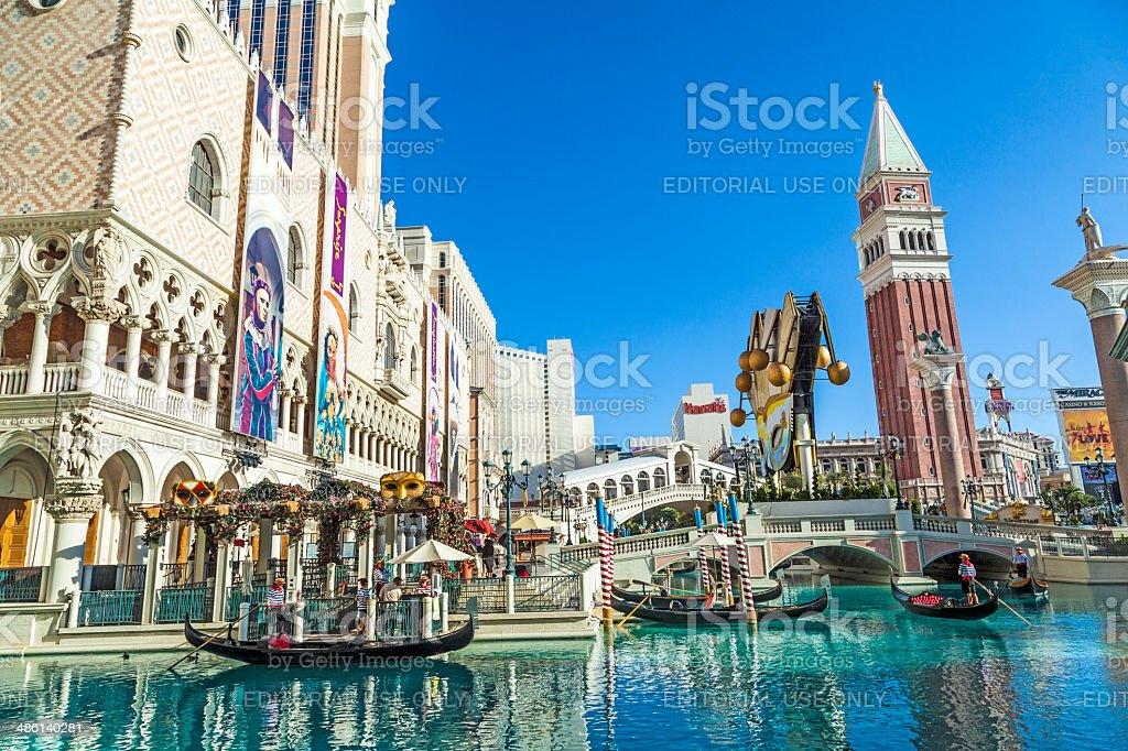 people enjoy the Venetian Resort Hotel & Casino stock photo