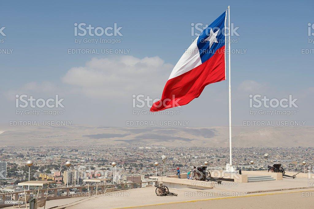 Pessoas Aproveite a vista para a cidade de Arica, Arica, Chile. - foto de acervo