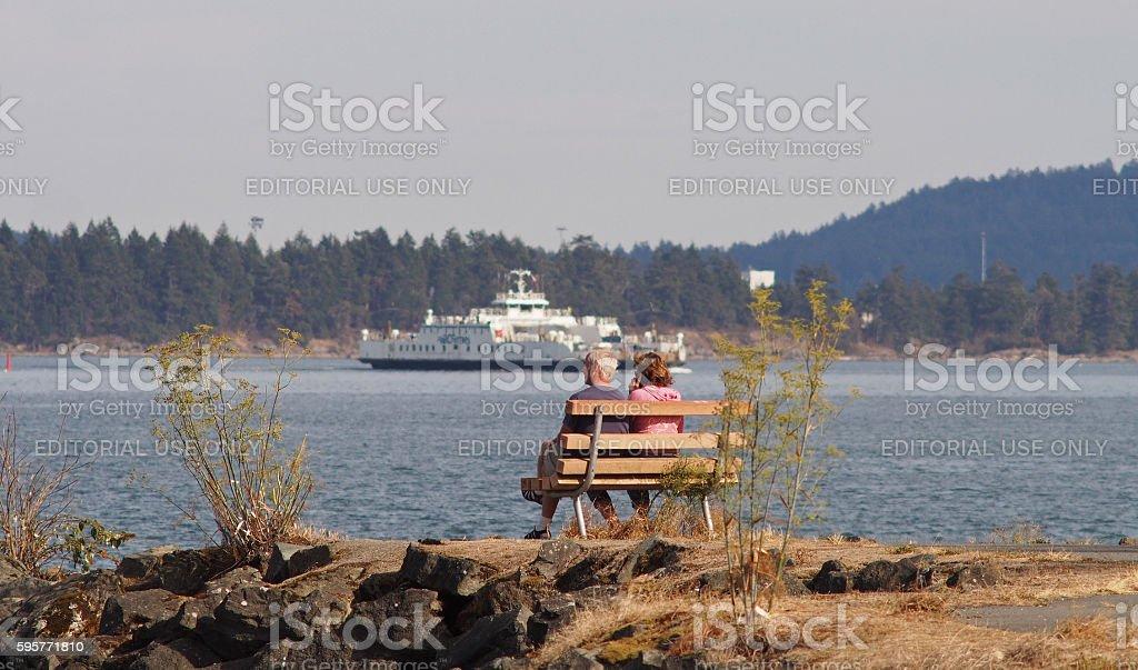 People Enjoying Beautiful Scenery: Nanaimo, Vancouver Island, Canada stock photo