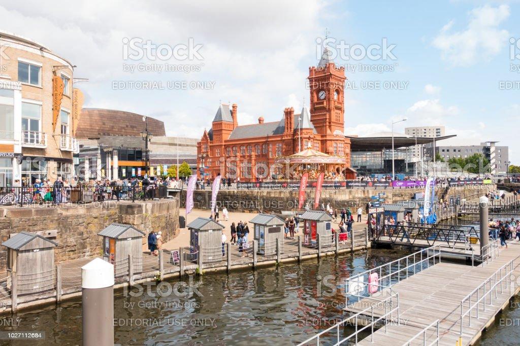 Menschen, die genießen Cardiff Harbour Festival 2018 – Foto