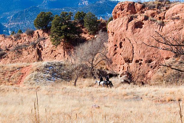 People Enjoying Red Rock Canyon stock photo