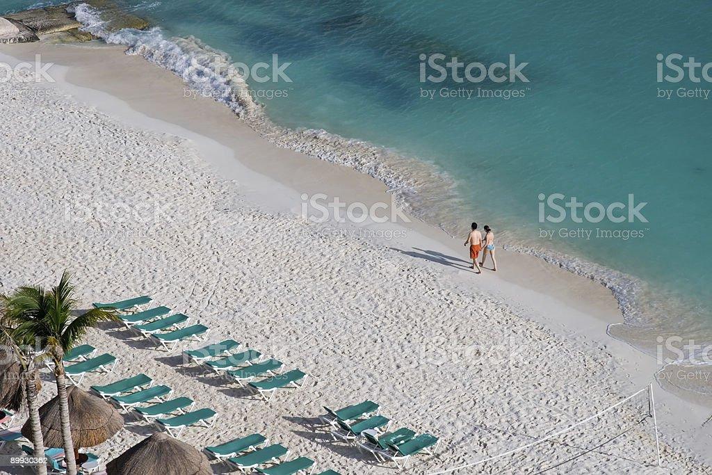 People Enjoying the Beach royalty-free stock photo