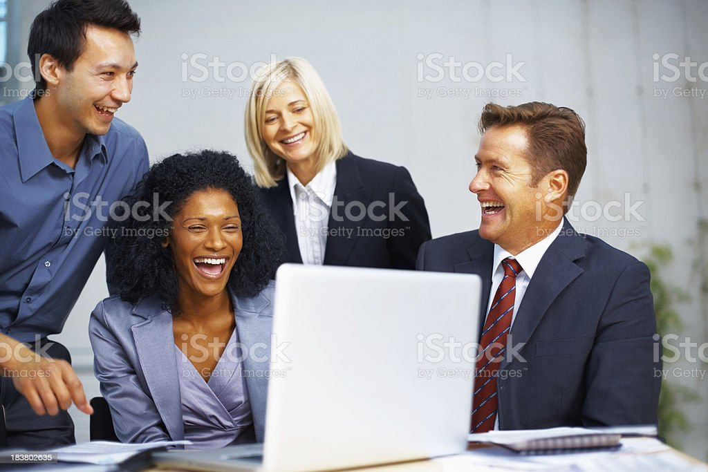 People enjoying the business meeting royalty-free stock photo