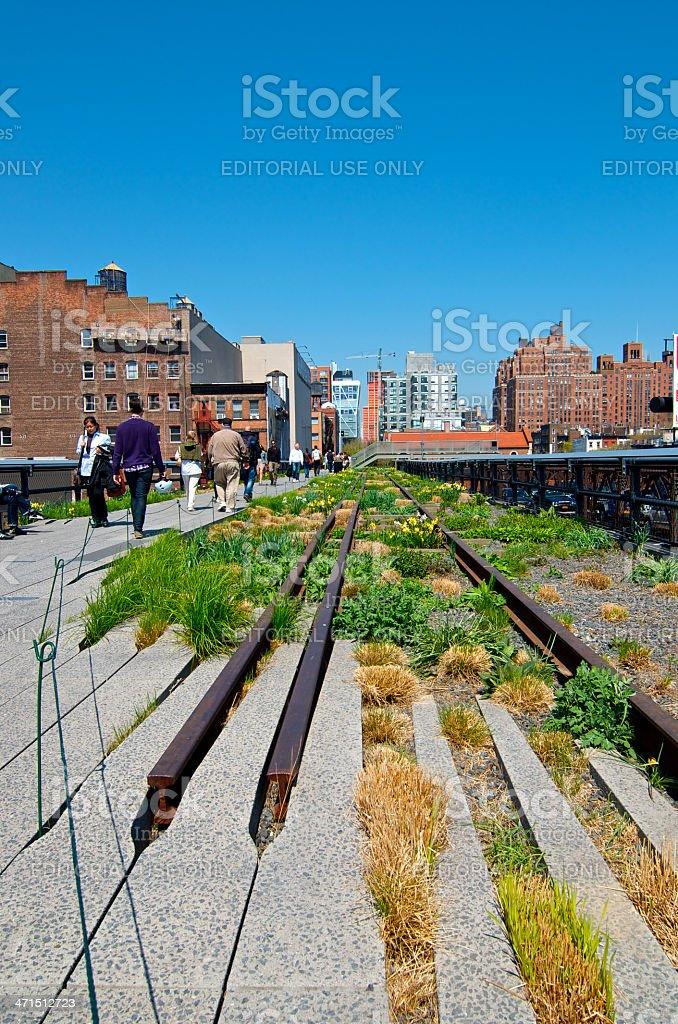 People Enjoying The High Line Park Chelsea New York City