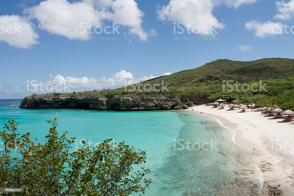 people enjoying tropical beach stock photo