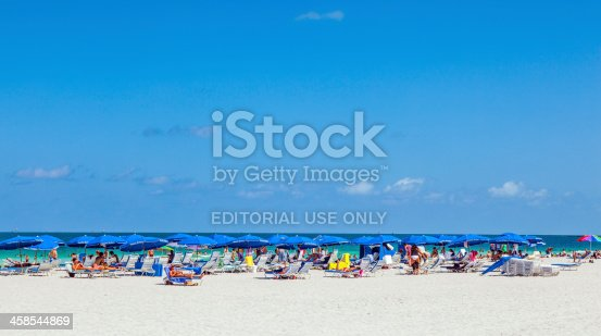 istock people enyoy the south beach in Miami 458544869