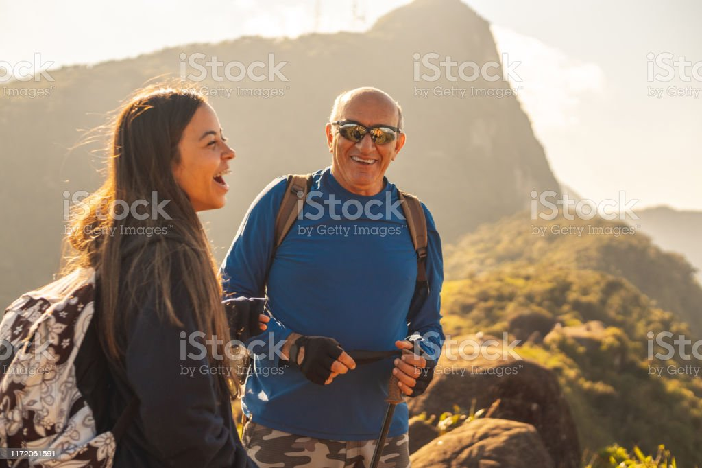 People exploring the mountains Brazil, National Park, Petropolis, Rio de Janeiro State, Serra Dos Orgaos National Park Active Lifestyle Stock Photo
