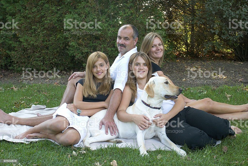 People - Family Portrait royalty-free stock photo