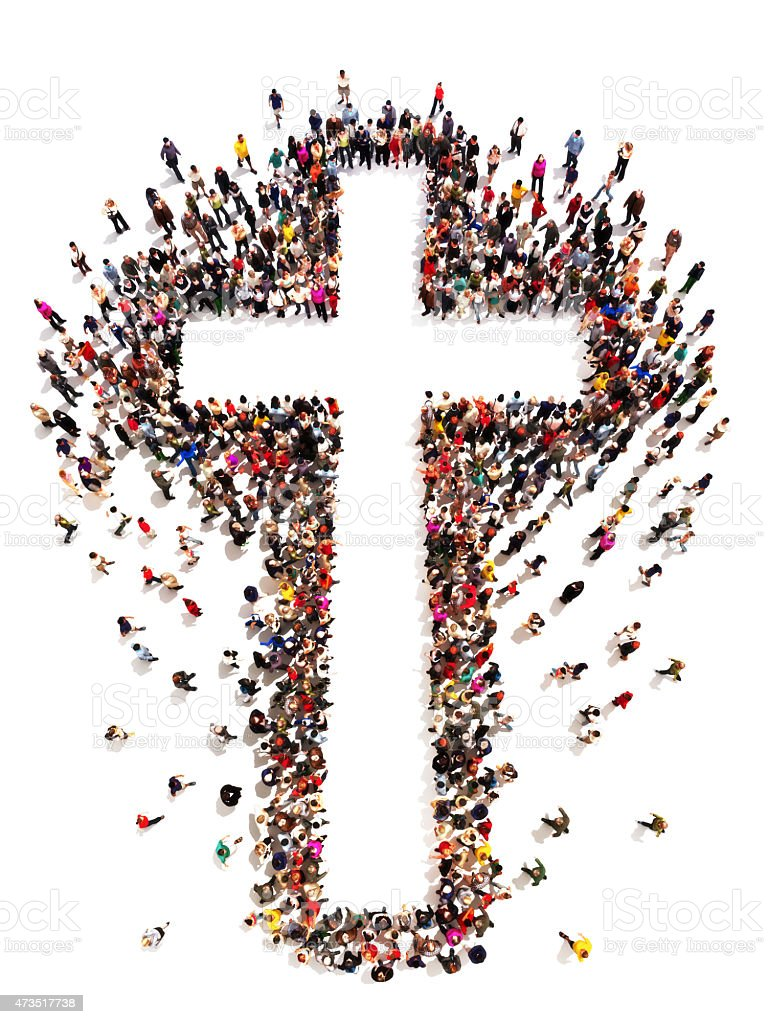 People finding Christianity, religion and faith stock photo