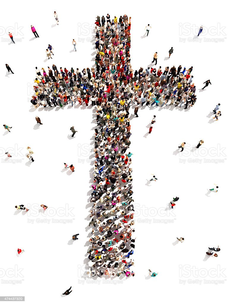 People finding Christianity, religion and faith. stock photo