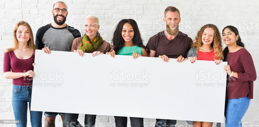 People Friendship Togetherness Copy Space Banner Concept - foto de acervo