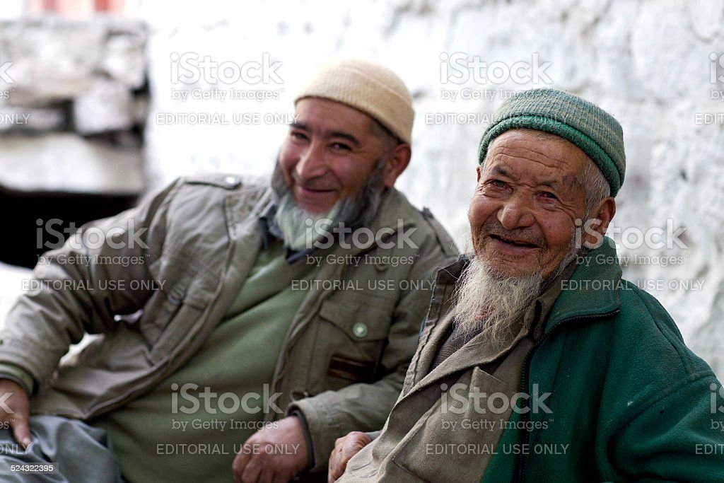 People from Baltistan, India stock photo