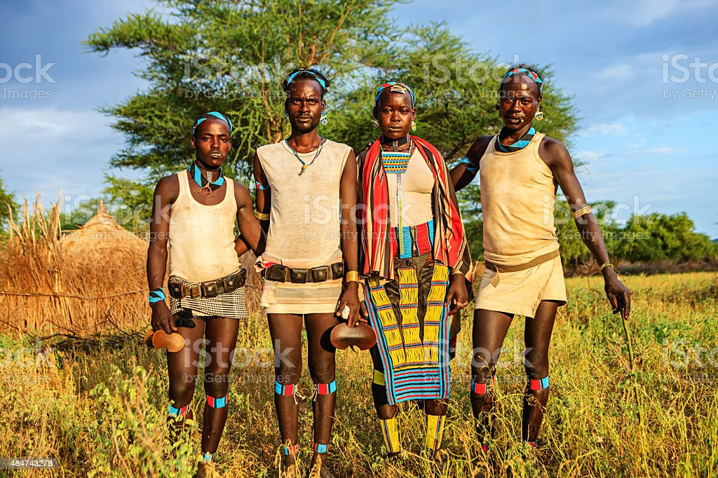People from Samai tribe, Ethiopia, Africa stock photo