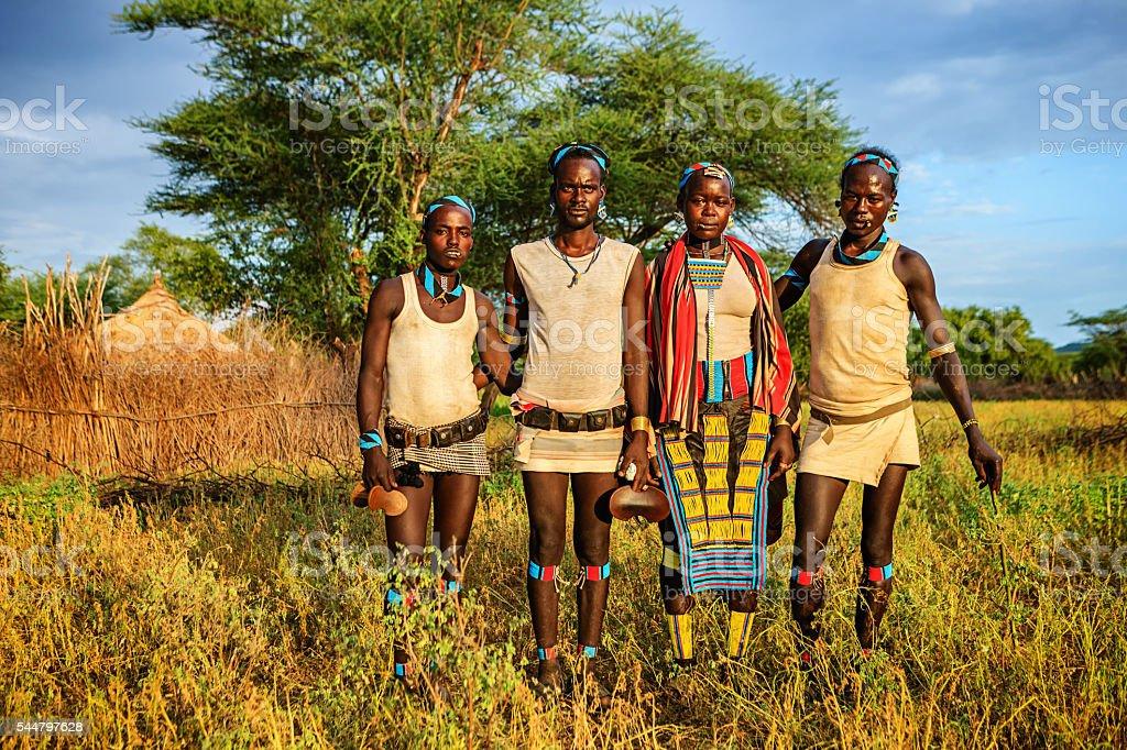 Menschen aus Samai tribe, Äthiopien, Afrika – Foto