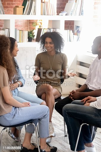 istock People gather for discuss problems or gain knowledge at seminar 1146488569