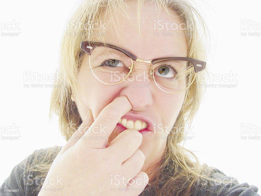 people - geek nose picker royalty-free stock photo