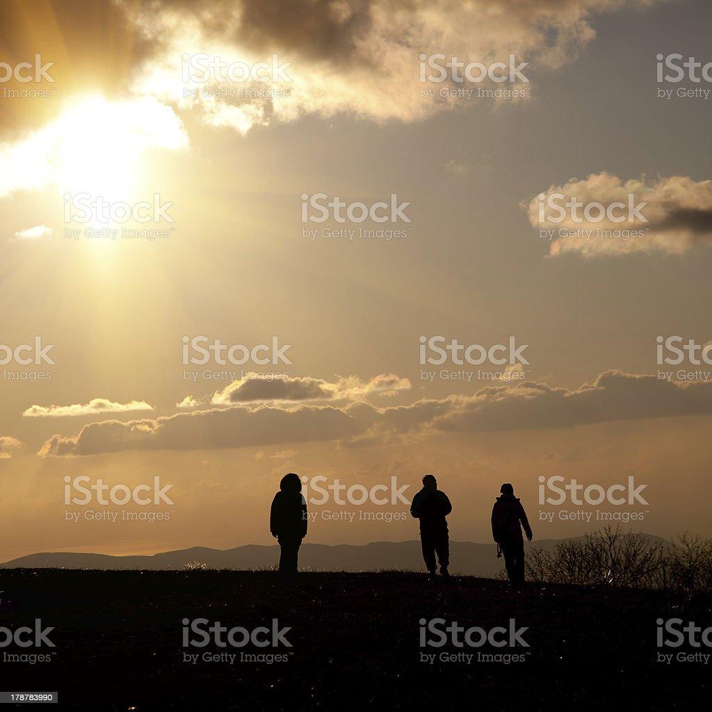 People go to heaven stock photo