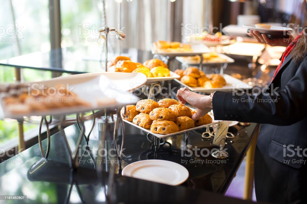 people group catering buffet food indoor, with food and beverage, Eat...