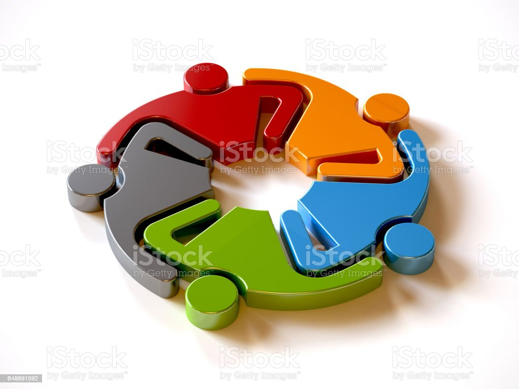 People Group Holding Each Other Logo. Vector graphic design illustration stock photo