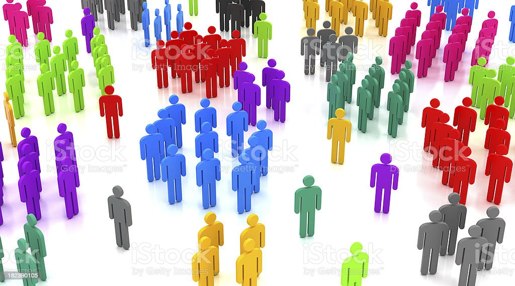People groups royalty-free stock photo