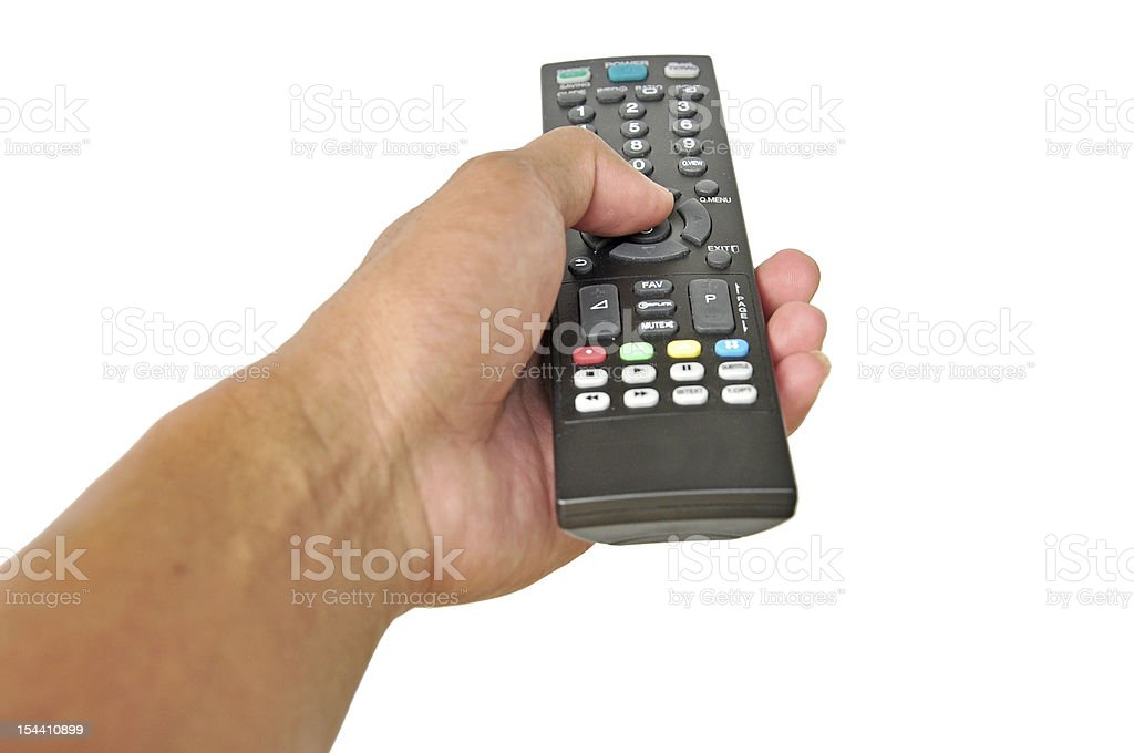 people hand holding remote contro stock photo