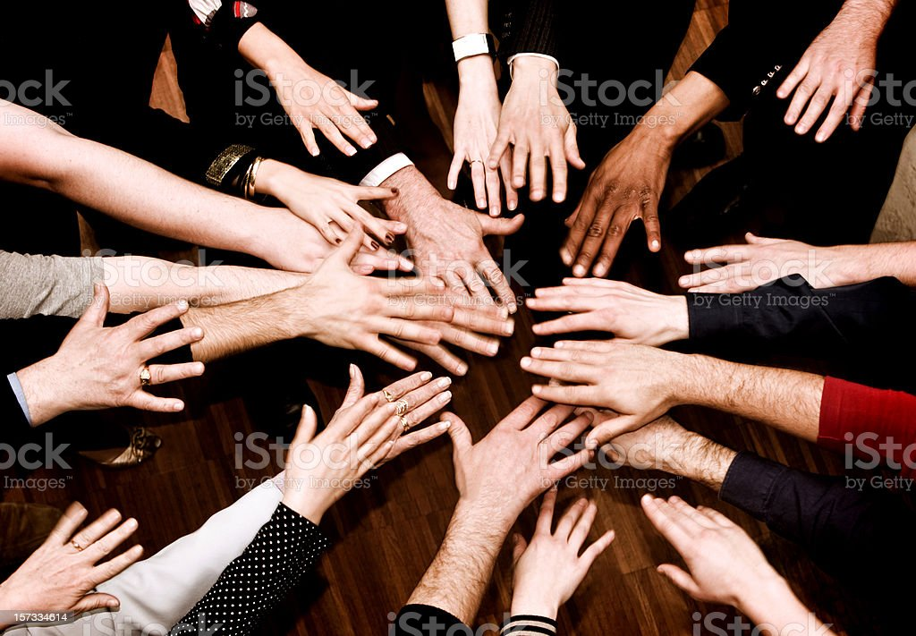 People Hands royalty-free stock photo