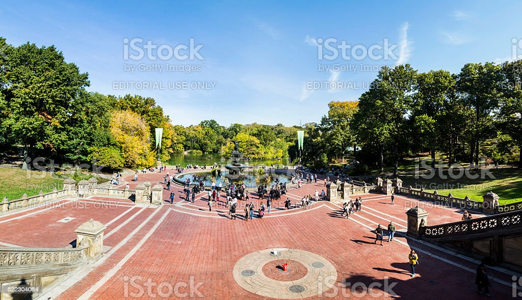 people have a rest in central Park, New York stock photo