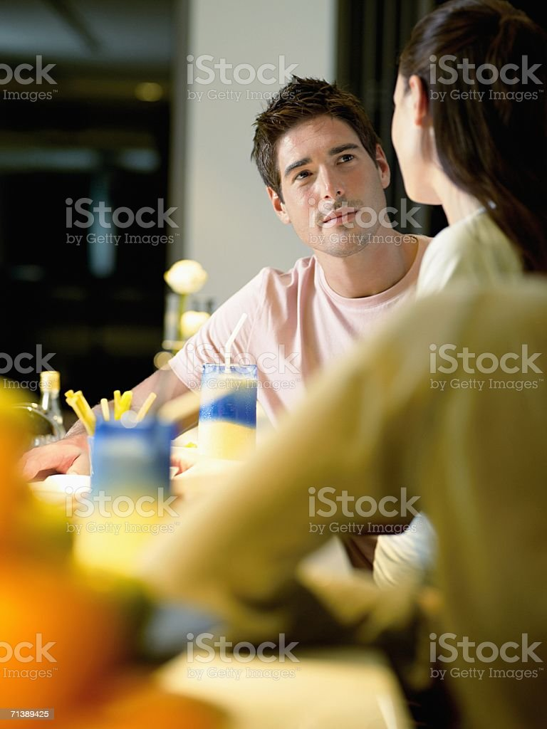 People having a drink in bar royalty-free stock photo