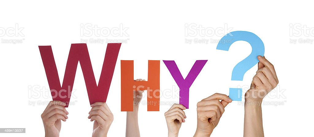 People Holding Colorful Why stock photo