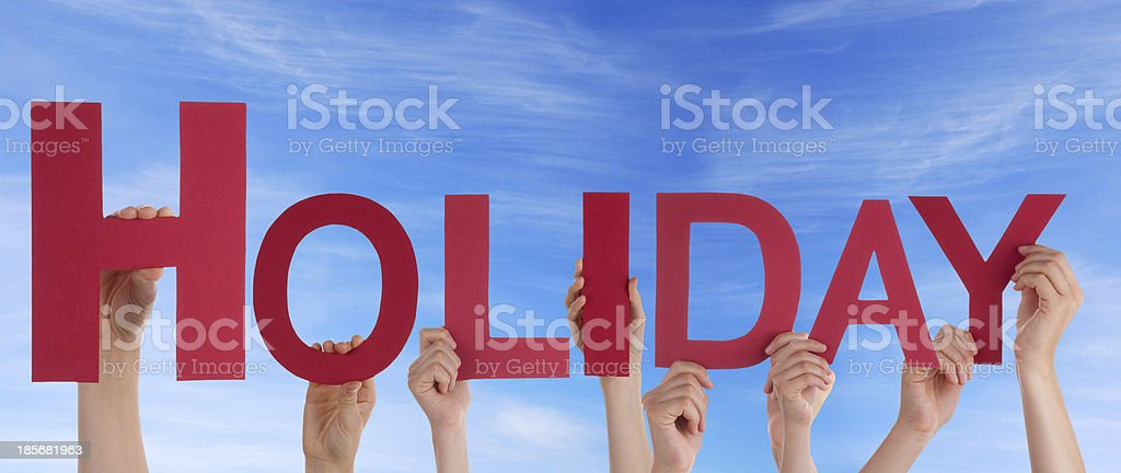 People Holding Holiday stock photo