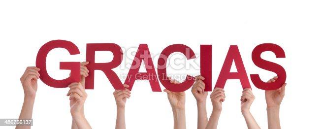 istock People Holding red Gracias 486766137