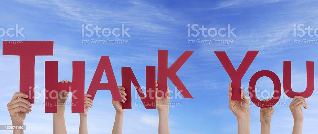 Personen, die vielen Dank, dass Sie sich in the Sky – Foto