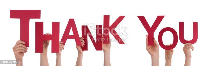 istock People Holding Thank You 186376956