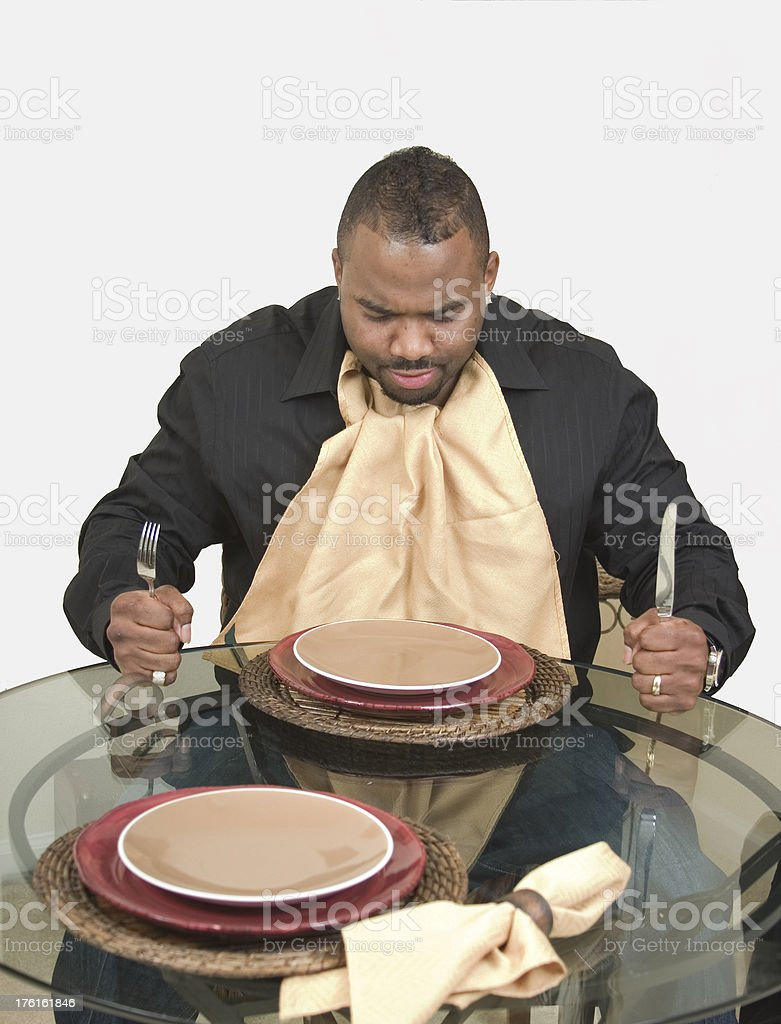 People - hungry man stock photo