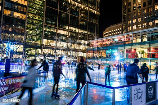 istock People ice skating at Canary Wharf ice rink, London, UK 509484662