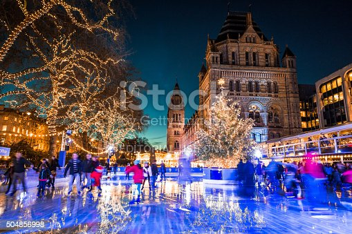 istock People Ice Skating, Natural History Museum in Kensington, London, UK 504856998